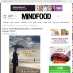Win 1 of 30 Double Passes to 'Sometimes Always Never' Worth $40 from MiNDFOOD