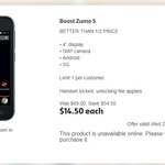 Boost Zume 5 (ZTE BLADE B112 LTE) $14.50 @ Coles (in store only)