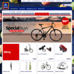 Mountain Bike $89.99, Folding Wheelchair $169, Robot Vac $299, Microfibre Cloths 3pk $3, Knoppers $5.49, Cashews $15.99 @ ALDI