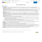 3% off Eligible Items ($30 Min Spend, Max Discount $1000 Per Transaction, Max 10 Items Per Transactions) @ eBay