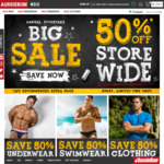 aussieBum EOFY Sale: 50% off Everything Storewide - Mens Underwear, Swimwear, Clothing