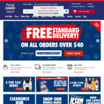 Free Standard Shipping ($40 Minimum Spend) @ First Choice Liquor