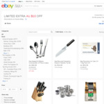 $10 off with No Minimum Spend from House eBay (Select Items)
