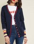 Women's Button-Placket Contrast Coat USD $8.75 /AU $13, Long Sleeve Tie Tassel A-Line Dresses USD $10.14 / $15 AUD @ Kate Kasin