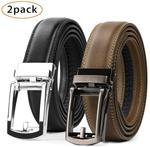 Leather Belt for Men (2 Pack) - US $21.60 / $31.17 AUD Delivered + Free Gift (30 Pieces) @ Jasgood (HK)