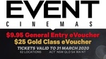 Event Cinemas: General Entry $8.95, Gold Class $22.50 (Valid to 31 Mar, Excl VIC/TAS) @ Groupon