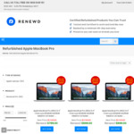 $300 off Selected Refurbished MacBook Pro (From $899) + Free Standard Delivery @ Renewd