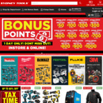 Bonus Points - Spend $250, Get Additional $50 Credit @ Sydney Tools (Instore & Online)