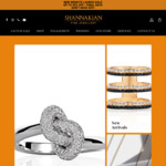 Up to 50% off Jewellery: Diamond Knot Ring $2250 Delivered (Was $4500) @ Shannakian Fine Jewellery