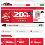 20% off Everything at Nutrition Warehouse (Online & Instore)