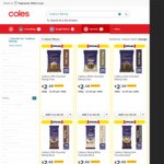 ½ Price Cadbury Baking Chocolate @ Coles