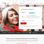 Qantas Money Premier Platinum Credit Card 100,000 QFF Points ($4000 Spend/3 Months) + $199 Annual Fee
