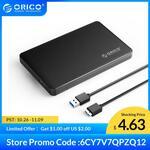 "ORICO 2577U3 2.5"" USB 3.0 to SATA Enclosure US$5.09 (~A$7.27) Delivered @ Orico Official Store AliExpress"