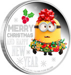 35% off Nieu $2 Minions Merry Xmas 1oz Silver Proof Coin - $85 (Was $132) @ The Coin Company