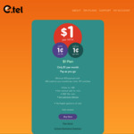 $1 Per Month Mobile Plan with Data 1¢/MB, Std. National Calls 1¢/Min, SMS 10¢ @ E.tel