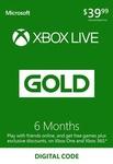 XBOX Live 6 Month Gold Membership Card Global $33.95 (~A$44.95) @ Bcdkey