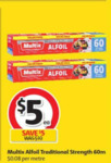 ½ Price Multix Alfoil Traditional Strength 60m $5,  Mr Chen's Yum Cha 204-300g $3.75 @ Coles