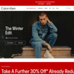 $20 off & Free Delivery with $100 Spend (Exclusions Apply) @ Calvin Klein