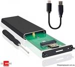 Aluminium M.2 NGFF SATA SSD Enclosure USB3.0  $9.50 Delivered @ Shopping Square