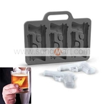 Flexible Handgun Design 6-Grid Ice Cube Maker Tray $3.39 w/Free Shipping