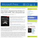 Free eBook: Programming Windows 8 Apps with HTML, CSS, and JavaScript