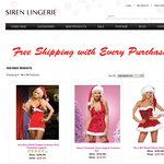 50% off Sitewide & Free Standard Delivery - Siren Lingerie