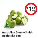 Granny Smith Apples 1kg Bags $1.90 @ Coles QLD ($2 Other States)