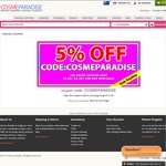 Ends Anytime! 5% off Coupon for Any Purchase & No Minimum Spend - Cosme Paradise Beauty Store