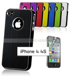 86% Max off $0.99 New Aluminum Metal Brush Case for Apple iPhone 4 4S Free Shipping