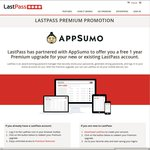 LastPass Premium Free for One Year - Save $12 @ App Sumo