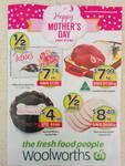 Woolworths 1/2 Price 6/5 (Bacon $8.49/kg, Telstra Prepaid Starter Kit $15, Doritos 150-170g $1.59, Arnott's Creams $2.49)