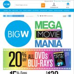 20% OFF DVD's/Blu-Rays, PS4 + Mortal Kombat X + Bloodborne + The Order 1886 + LOUR $568 @ Big W
