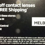 50% off Contact Lenses Online with Specsavers. Free Shipping. VIC (MELB CBD)