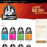 Geronimo Jerky Beef Jerky - 35% off 200g Bags - Postage from $8.95