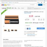 Duracell Batteries 36PK AAA/AA $18 Delivered @ eBay Group Deals