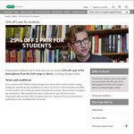 25% off 1 Pair for Students @ Specsavers