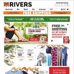 Rivers Free Shipping on All Orders Today Only