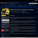 [PS+ Exclusive] FREE DARK SOULS III Dynamic Theme @PlayStation Store