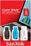 SanDisk 3 Pack 8GB USB Blade $12 at Target Online