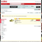 '21 Seiki' Green Nashi Pears $3.90/Kg at Coles Nationwide