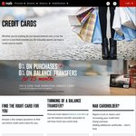 NAB Credit Cards 15months at 0% on Purchases + FF Points Bonus