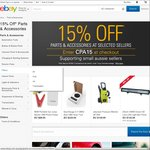 15% off* Selected Automotive Parts & Accessories Stores @ eBay