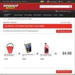 SCA Combo - Bucket, Sponge & Wash n Wax 1.25 litre $4.95 @ Supercheap Auto