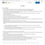 eBay 5% off Site Wide with $30 Minimum Spend (Max $300 Discount) - 3 Transactions Per Account