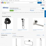 Extra 10% off, Plus 15% with Code (35% off RRP) + Free Delivery @ Online Bathroomware eBay