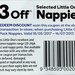 Little One's Nappies $3 off Selected Sizes at Woolworths