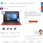 HP X2 10-P034tu Detachable Touchscreen Notebook (Cardinal Red) - $399