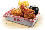 KFC $5 Smoky BBQ Crunch Lunch Box (Smoky BBQ Crunch, Wicked Wing, Chips, Drink, Potato/Gravy)