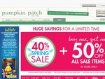 Pumpkin Patch Free Delivery + 20% off eSale + 10% off Full-Priced Items, No Minimum Spend