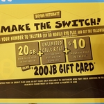$59 Plan for $49/Month (Porting in, BYO Phone) with Telstra, incl. 20GB Data + $200 Gift Card @ JB Hi-Fi
